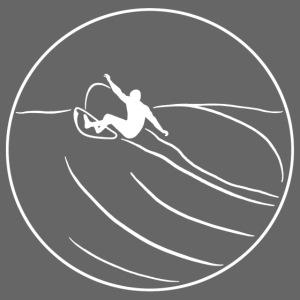 Surfer2 auf Welle, weiß Nr.1