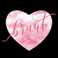 Brautshirts Herz Rosa Braut