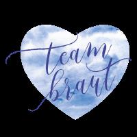 Brautshirts Herz BlauTeam