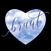 Brautshirts Herz Blau Braut