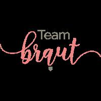Brautshirts Schrift Braut Team Apricot