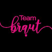 Brautshirts Schrift Braut pink Team