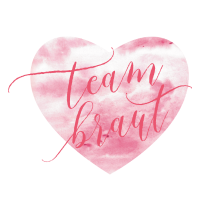 Brautshirts Herz Rosa Team
