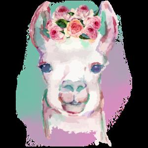 Aquarell-Lama