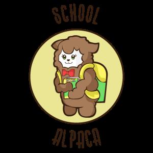 Einschulung 1. Erste Klasse Schulkind Alpaka Lama