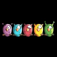 Funny Owls - Eule - Vogel