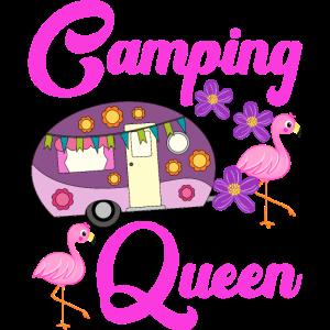 Camping Queen Flamingo Wohnwagen Camper Geschenk
