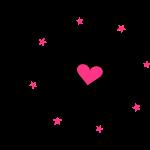Bride Love - Feuerwerk Herz & Sterne