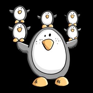 Lustige Pinguin Familie I Pinguine
