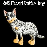 Glücklicher Australian Cattle Dog - Hund