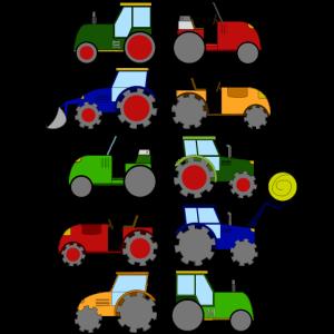 Trecker Traktoren Traktor Bauernhof Bauer Geschenk