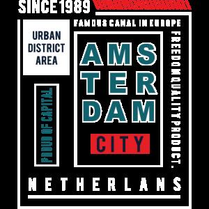 Amsterdam City Coole Typografie