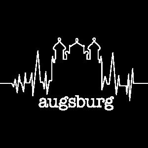 Augsburg EKG Rathaus Motiv
