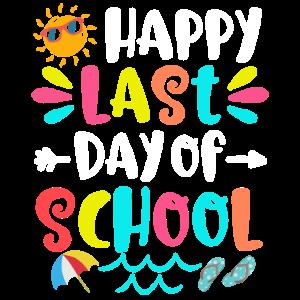 Glücklicher letzter Tag des Schullehrers Shirt