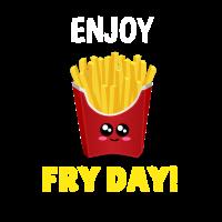 Genießen Sie Braten-Tagesniedliches Pommes-Frites-Wortspiel