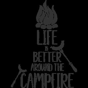 Das Leben am Lagerfeuer ist besser