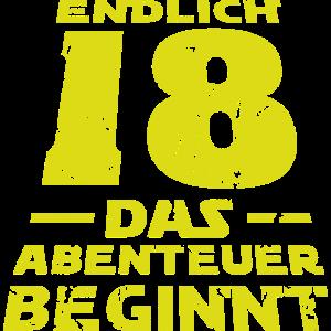 Endlich 18 Jahre Geburtstags Geschenk Shirt