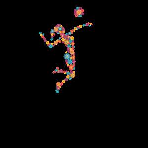 Blumen Volleyball Spielerin