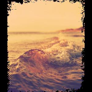 Flache Welle im Sonnenschein