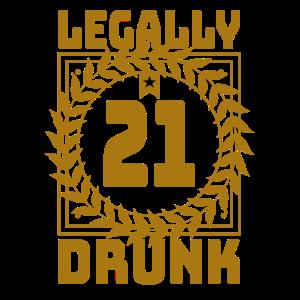 Legal Betrunken Volljährig Alkohol Geschenk