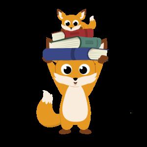 Fuchs stämmt Bücher zum Schulstart Einschulung