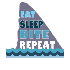 Shark Eat Sleep Bite Wiederholungsdesign für Kinder