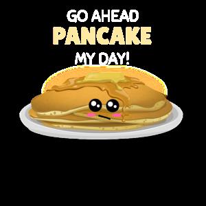 Gehen Sie Pfannkuchen mein Tageslustiges Pfannkuchen-Wortspiel voran