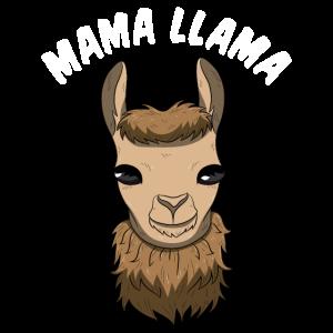 Mama Llama Shirt Alpaka Mutter Lama Muttertags Ges