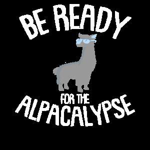 Be ready - Alpaca, Lama, Peru, Geschenk, Spucken