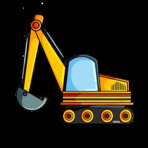 Bagger Baustelle Fahrzeug