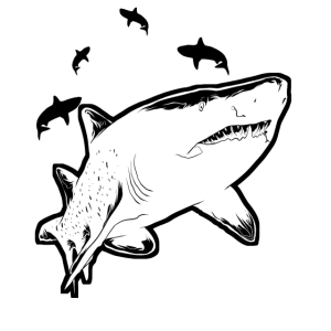 Save the Sharks Rettet die Haie Ozean Aktivist