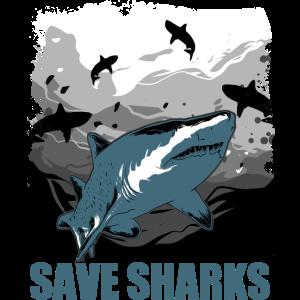 Save the Sharks Rettet die Haie Ozean Aktivist