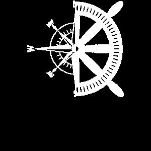 Kompass Steuerrad Segler Seefahrt Geschenkidee