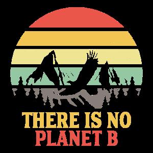 Planet B Natur Umwelt Vintage Spruch Geschenk