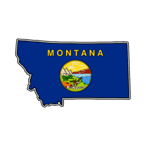 Montana Flagge Landkarte
