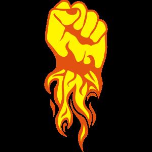 Faust Feuer Flamme schließen