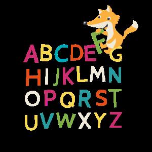 Schule Schulstart ABC Buchstaben Tiere Einschulung