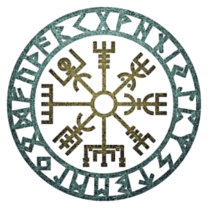 Vegvisir Kompass Rune Wikinger