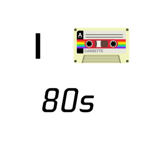I LOVE 80s Casette instead of a Heart