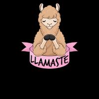 Llamaste Meditation Lama Geschenk Yoga Alpaka Yogi
