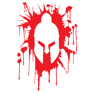 Spartaner Helm in Blutfleck | Krieger Training