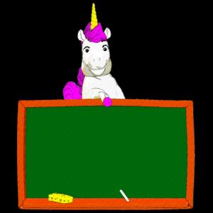 schule kind einhorn pony