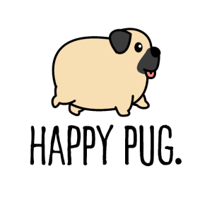 happy pug