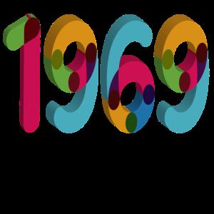 1969, 50ter Geburtstag,Fünfzig, 50 Shirt 3D Datum