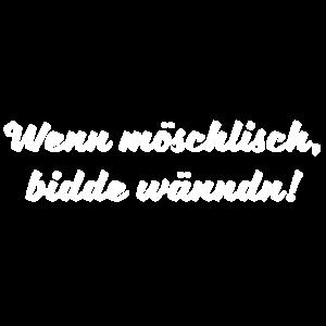 Bitte Wenden Sächsischer Spruch Ossi DDR Geschenk