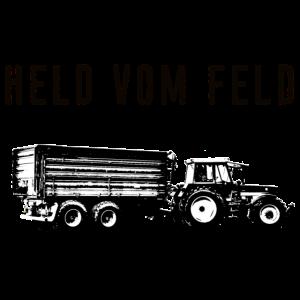 Held vom Feld Landwirt Landwirtschaft Anhänger