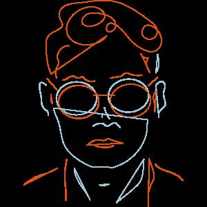 Porträt Ästhetik Mann
