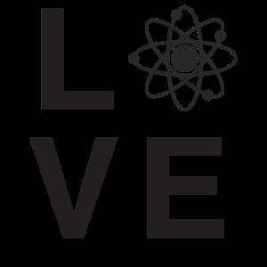 Atomliebes-Wissenschafts-Liebhaberentwurf