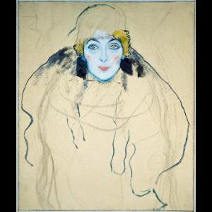 Gustav Klimt - Frauenkopf. 1918.
