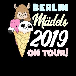 Mädels on Tour Geschenk Berlin 2019 Panda Lama